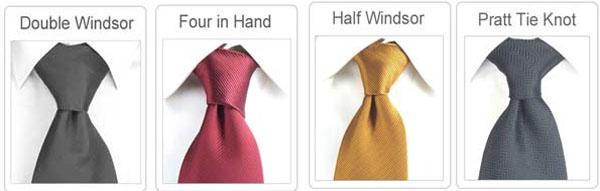 tipos de nós de gravata