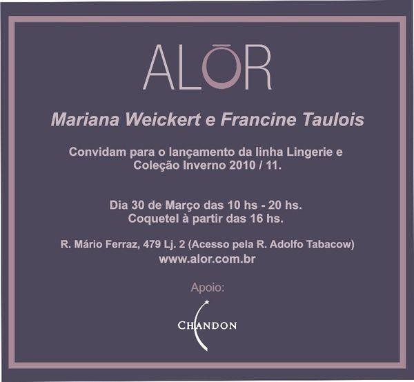 Convite Alór Inverno 2010