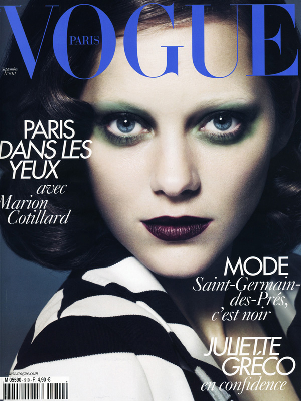 Vogue Paris September 2010 Marion Cotillard by Mert & Marcus