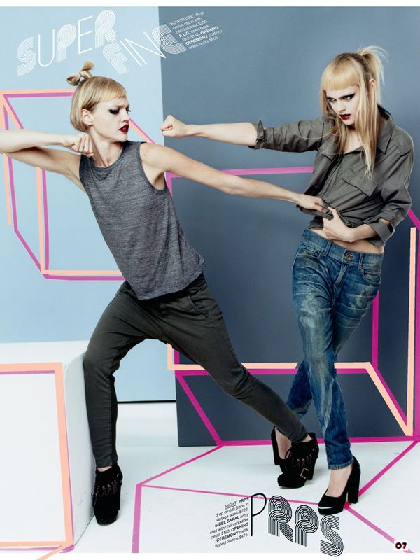 Barneys8 Sasha Pivovarova, Liu Wen & Viktoriya Sasonkina for Barneys CO OP Denim Mailer